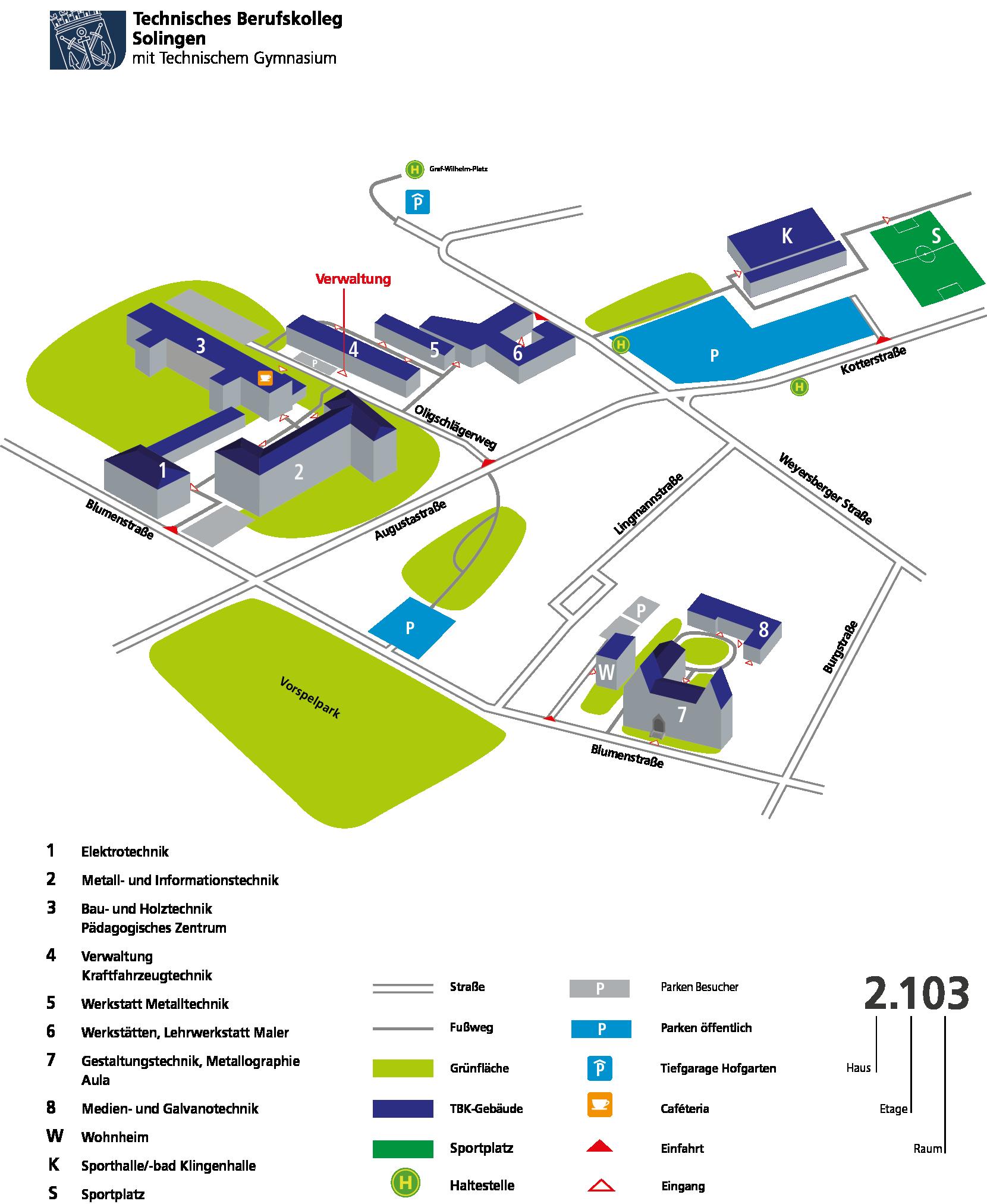Lageplan TBK-Solingen