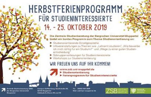 Schülerinnen und Schüler aufgepasst: An der Bergischen Universität werden Studiums- und Ausbildungsmöglichkeiten vorgestellt.