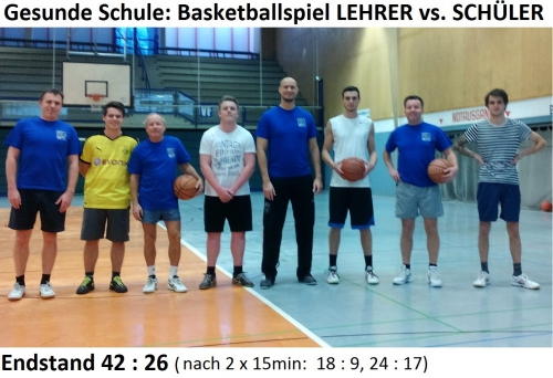 Gesunde Schule mit Basketball: Lehrer vs. Schüler