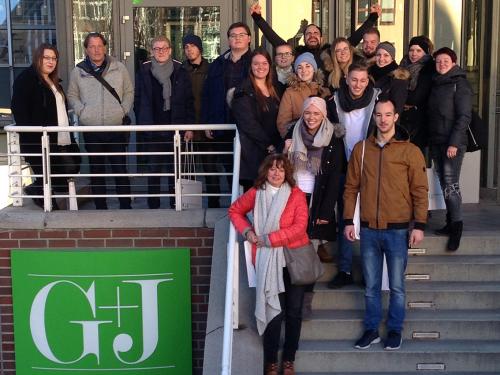 Die Mediengestalter-Oberstufe des Technischen Berufskolleg Solingen auf Studienfahrt in den Norden.