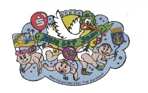 Babys, Storch und Luftballons überzeugten am meisten. Aufgrund der vielen tollen Entwürfen war die Auswahl aber sehr schwer.