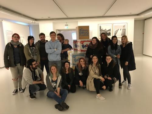 TBK Gestaltungstechnische Assistenten in der Ludwiggalerie Solingen